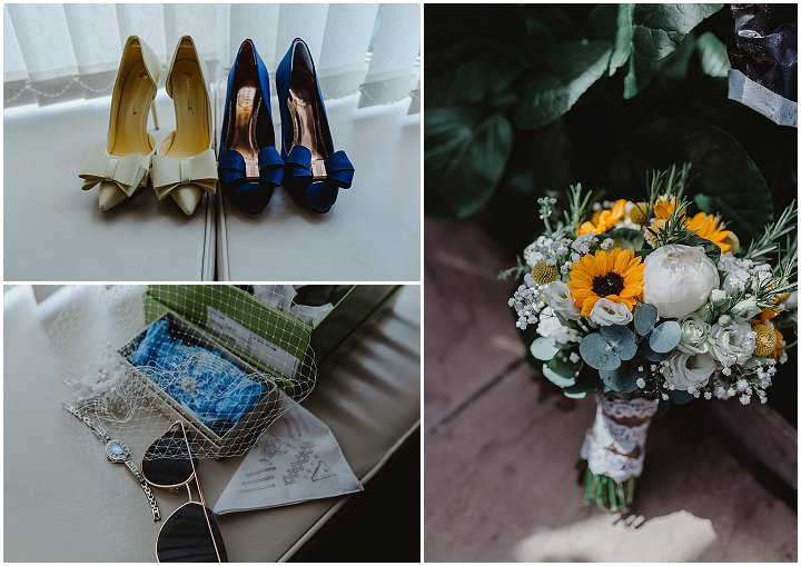 Helen and Paul's Homepsun Yellow and Blue Summer Wedding in West Yorkshire by Stevie Jay