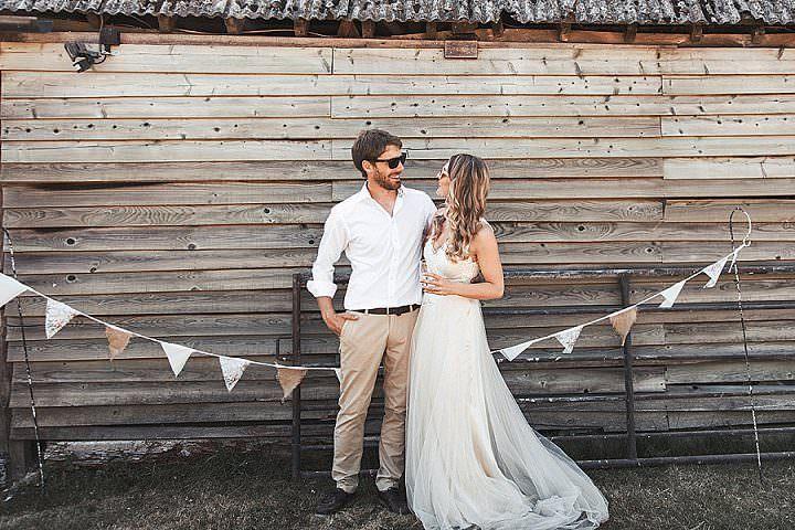 Hayley andBen's DIY Berkshire Barn Wedding with a Hog Roast, Sunshine and Lots of Dancingby Masha Unwerth