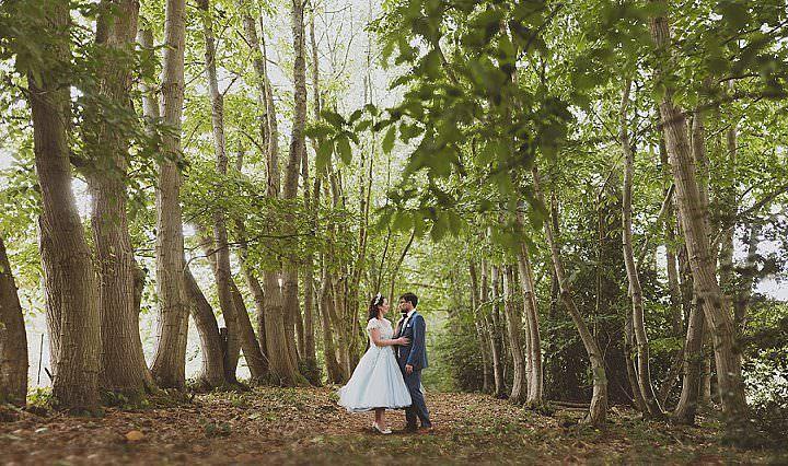 Elizabeth and Jack's 'Glastonbury meets Downton Abbey' Woodland Wedding at Homeby SashaWeddings