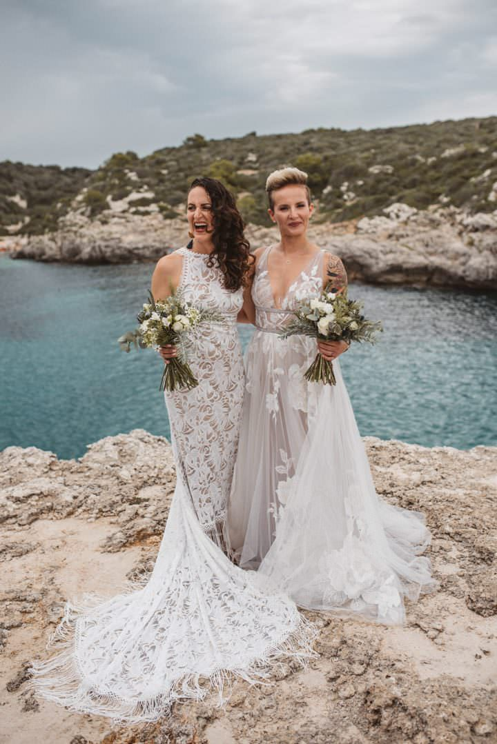 Julie andKatherine's Intimate Spanish Cliff Top Wedding by Katja and Simon