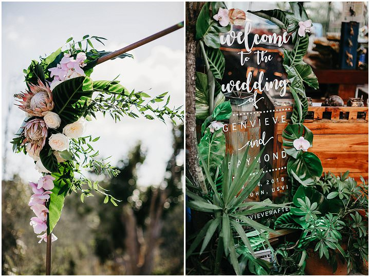 Genvieve and Raymond's Tropical Bohemian Cliff Top Wedding by Lindsay Vann Photography