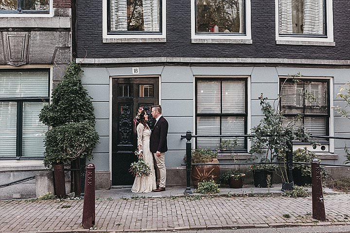 Katrina and Scott's Super Stylish Bohemian City Elopement in Amsterdam