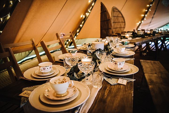 Terri and Scott's Barefoot Outdoor Tipi Wedding by Rose & Rainbow Photography