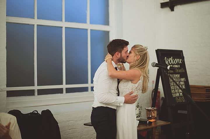 Melanthe and Joshua's Rainy London Warehouse Wedding by Sasha Weddings