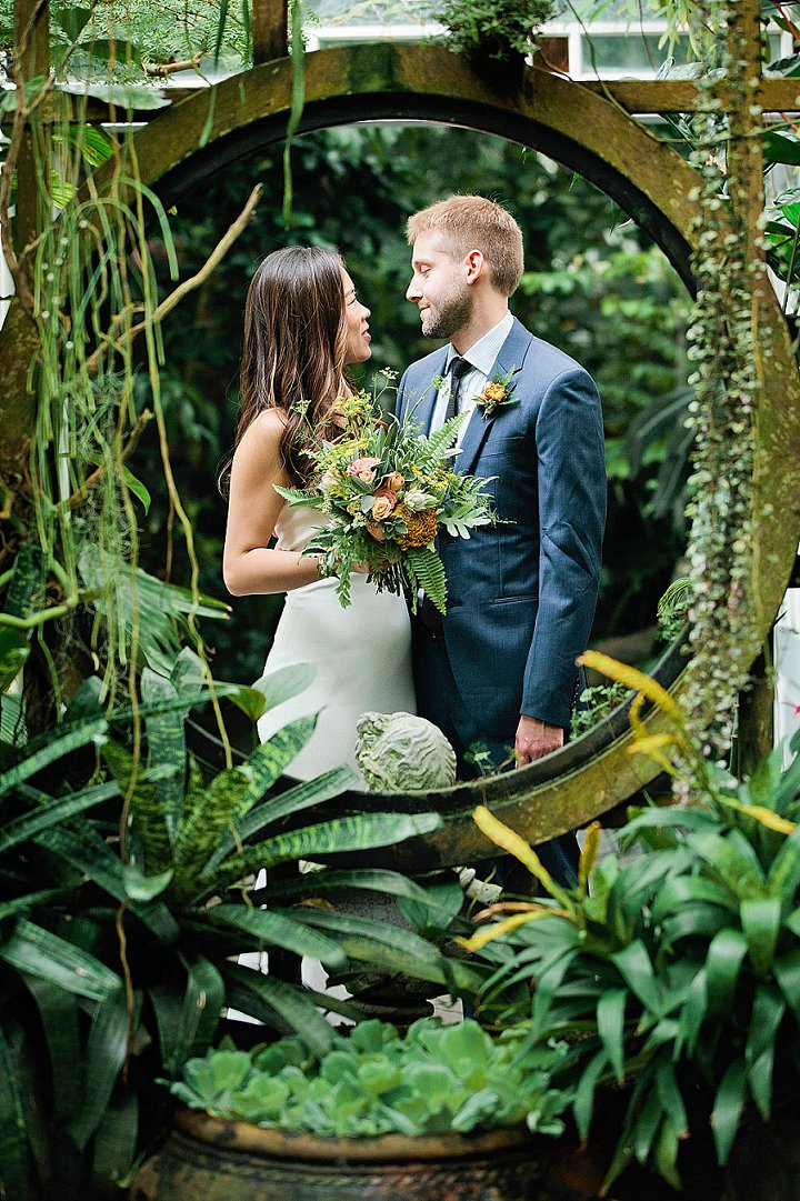 Linda and Michael's Modern Chic Conservatory Wedding in San Francisco by Alison Yin and Riley Loves Lulu