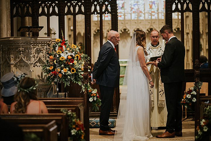 Ciara and Andy's Autumnal Festival Farm Wedding in Somerset by Lucy Turnbull