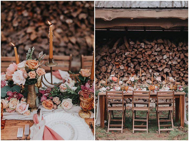 Earth Tones and Warm Romantic Bohemian Vibes Inspiration