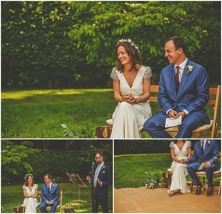 Charlotte and Ed's Relaxed Woodland Garden Wedding in Hertfordshire by Howell Jones Photography