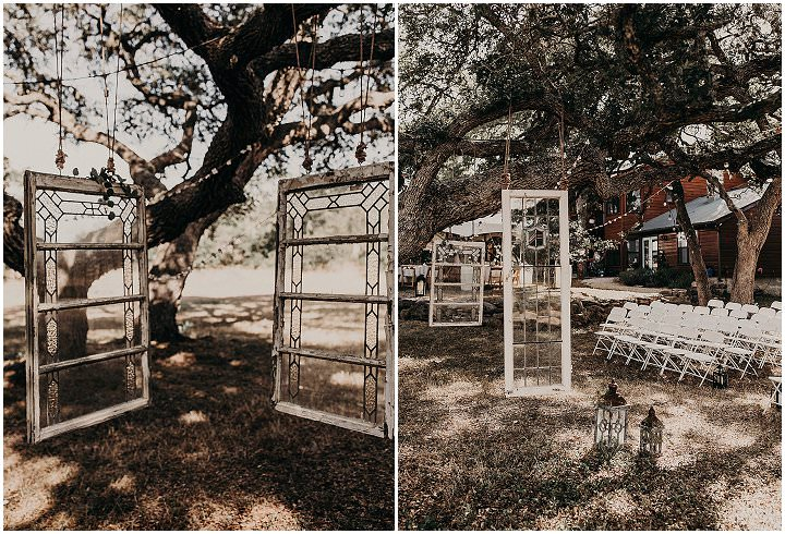 Alison and Austin's Intimate and Simple Outdoor Backyard Bohemian Wedding in Texas by Nikk Nguyen Photo
