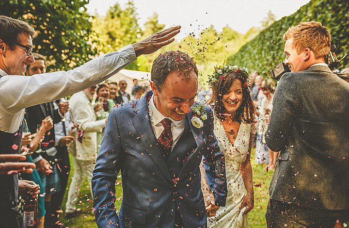 Charlotte and Ed's Relaxed Woodland Garden Wedding in Hertfordshireby Howell Jones Photography