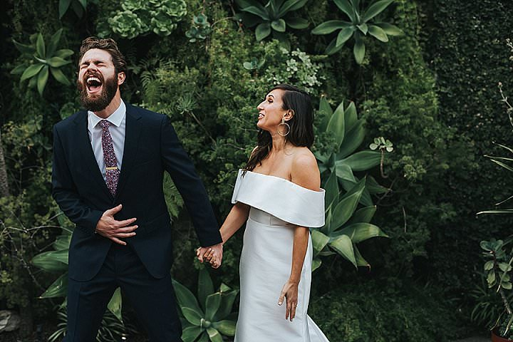 Molly and Jason's Fun Filled Modern Urban Jungle Wedding in Los Angeles by Jessica Miriam Photography