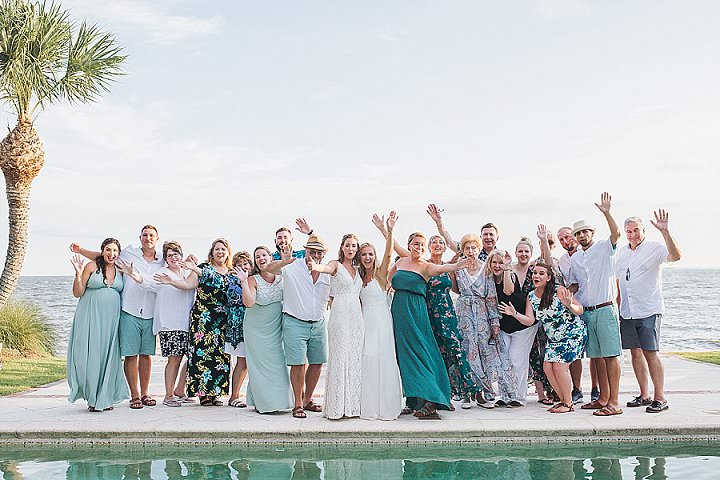 Lindsay and Ellen's 'Flower Child' 60's Themed Ocean Front Wedding by Rainey Gregg Photography