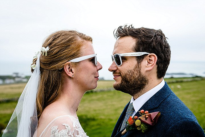 Stef and Simon's Bright and Bold Tipi Wedding in Anglesey by About