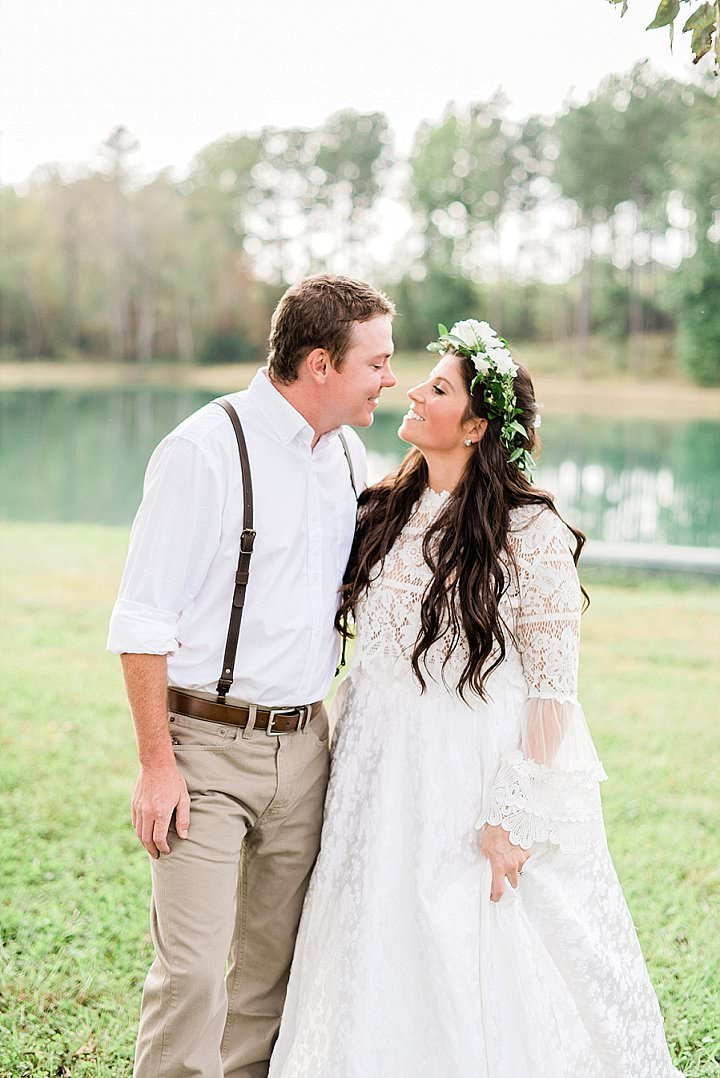 Anna and Robert's Earthy Family Farm Wedding in North Carolina by A.J. Dunlap Photography