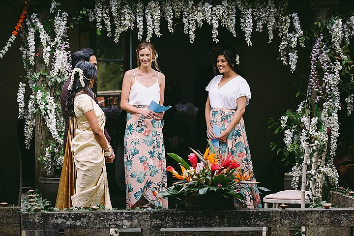 Ranjana andHarri's Tropical Themed Wedding with Two Ceremonies and a Tortoise Ring Bearer by Kevin Belson