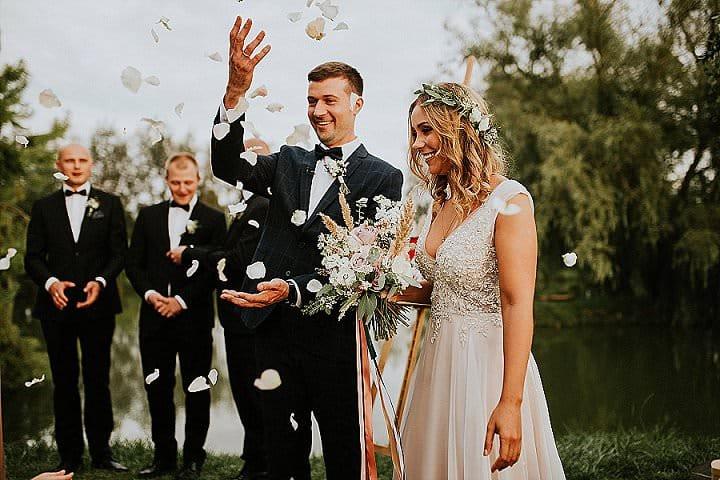 Ola and Emil's Pretty Pastel and Greenery Polish Wedding by Karol Nycz