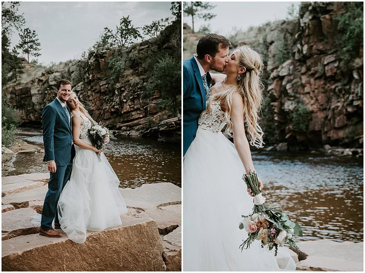 Meaghan and Jon's Rustic Mountain River Wedding in Colorado by Ashley Tiedgen Photography