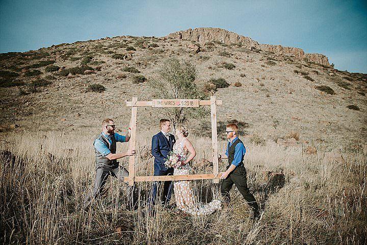 Lindsey and David's Intimate Backyard Boho Wedding by Ashley Tiedgen Photography
