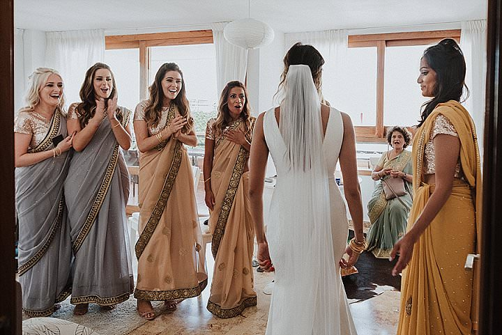 Jaya and Ben's Bright, Laid Back Outdoor Mallorca Wedding With an Indian twist by Laura Jaume