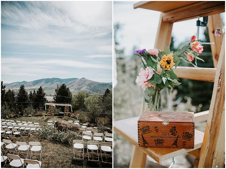 Lindsey and David's Intimate Backyard Boho Wedding by Ashley Tiedgen Photography
