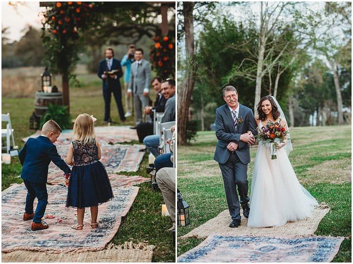 Lauren and Garret's Surprise Boho Texas Wedding by Tabatha O'Brien Photography