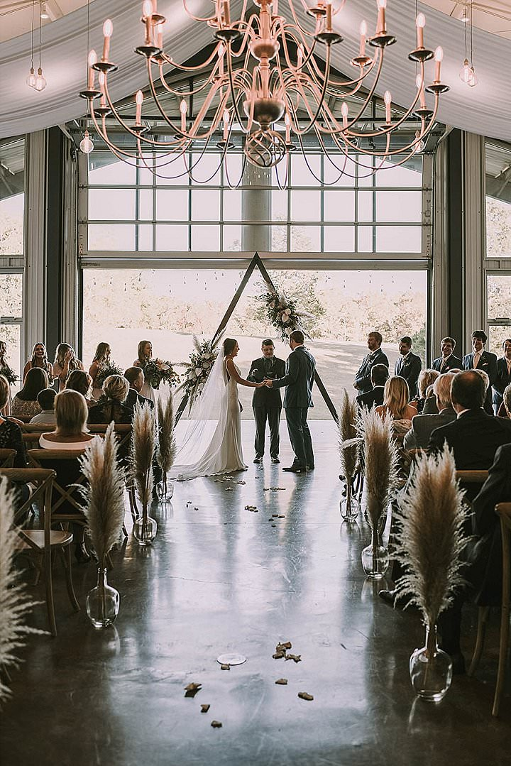 Amber and Josh's 'Understated Boho' Coral and Pampas Grass Wedding by Meredith Events and Freckled Fox Photography