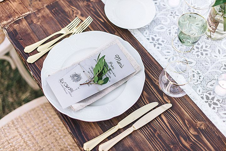 Anna and Mattia's Natural and Rustic Wedding in the Tuscan Hills with Bold and Eclectic Touches by Duesudue