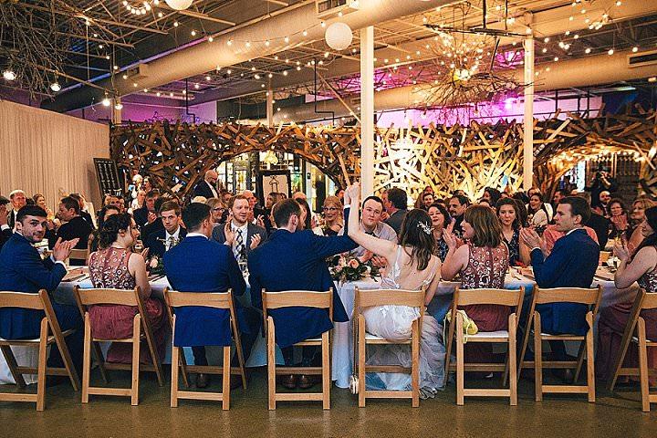 Kreisten and Mitchell's 'Botanical Meets Urban' Rainy Detroit Wedding by Rosy and Shaun