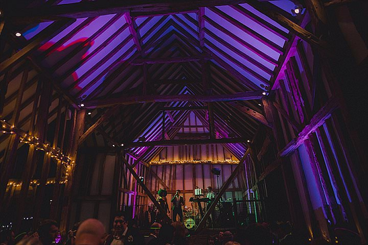 Chelsea and Jim's 'Glitz and Groove' Eclectic Music Themed Kent Barn Wedding by Steve Fuller Photography