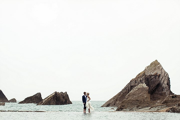 Lucy and Dan's Beach Themed North Devon Wedding by D and A Photography