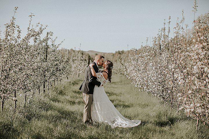 Brynne and Andrew's Dreamy Romantic Boho Farm Wedding by Brooke Brady Photography