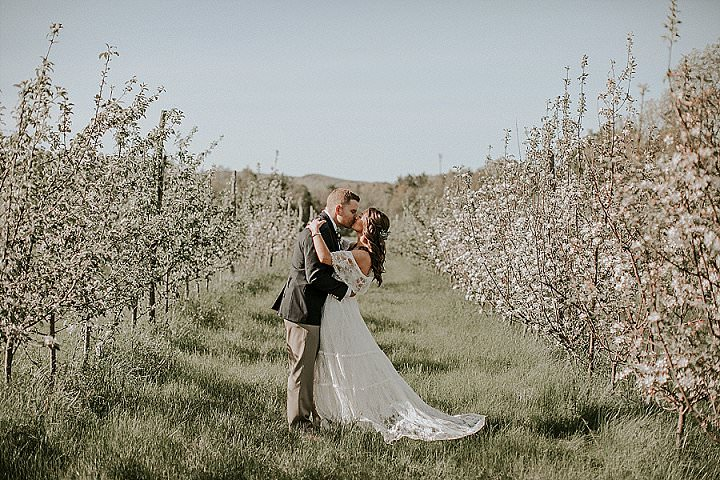 Brynne and Andrew's Dreamy Romantic Boho Farm Wedding by Brooke Brady Photography