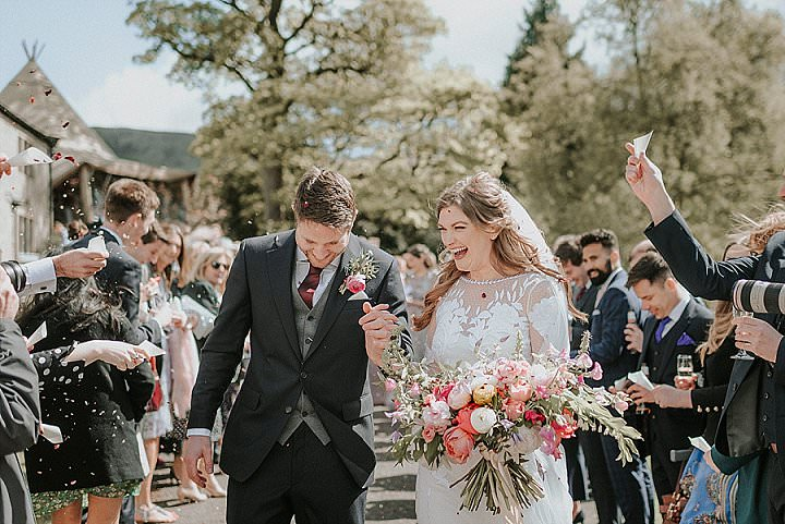 Sarah and Craig's Hexagon Themed Wild Flower Wedding in The Peak District by Alice Cunliffe