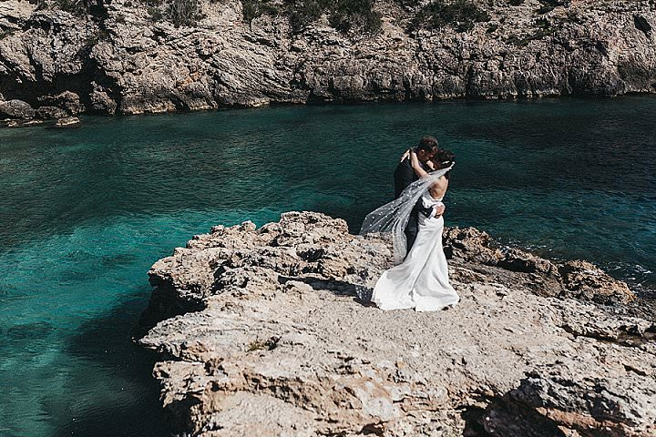 Lisa and Dom's 'Bohemian Minimalist' Intimate Ibiza Villa Wedding by Del Mao Photography
