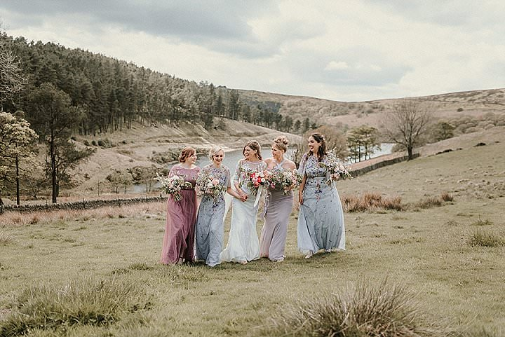 Sarah and Craig's Hexagon ThemedWild Flower Wedding in The Peak District by Alice Cunliffe