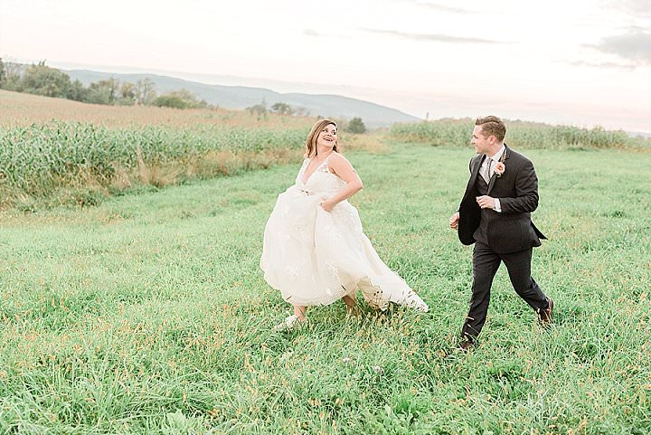 Nicole and Andrew's Rustic Chic Outdoor New York Farm Wedding by Jennifer Larsen Photography
