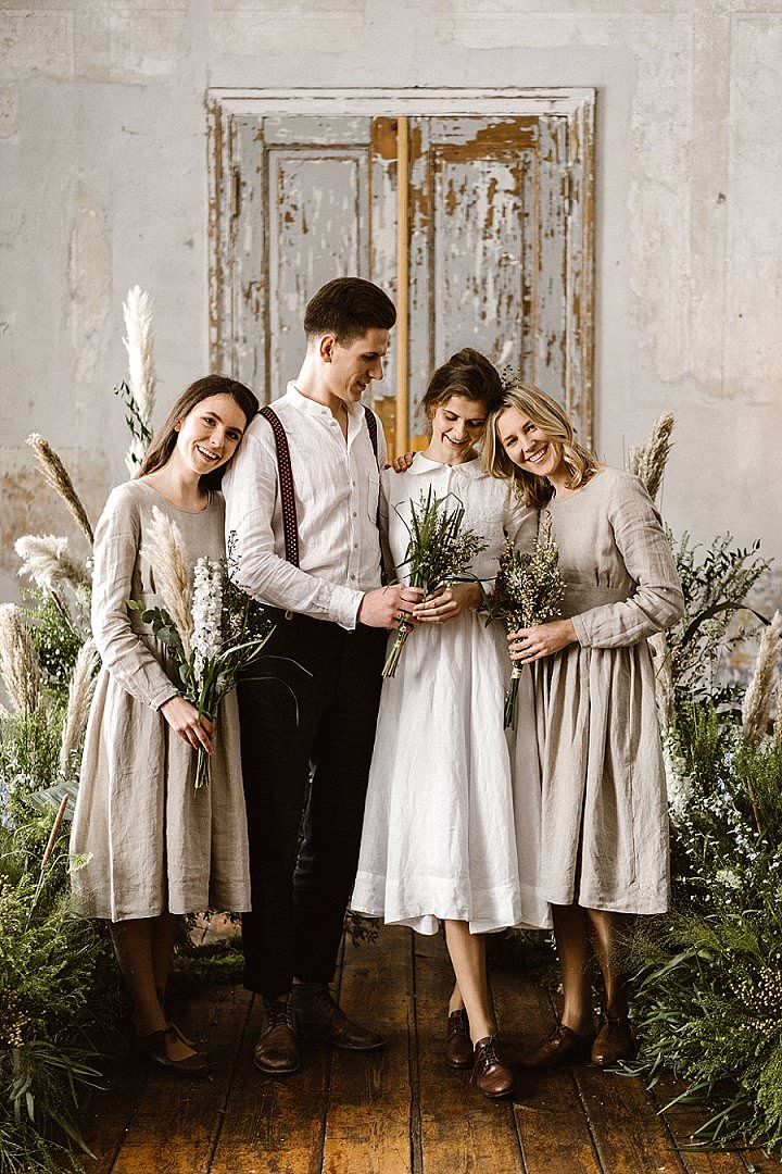Bridal Style: Son de Flor Timeless. Feminine. Charming. Subtle - Linen Wedding Dresses
