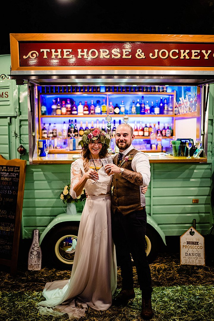 Lydia and Seth's 'Festival Feel' Rustic Woodland Wedding in Nottingham by Vicki Clayson Photography