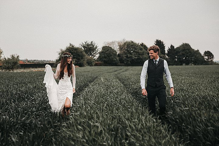 Rachel and Ben's Foliage Filled Natural Wedding at Home by The Vedrines