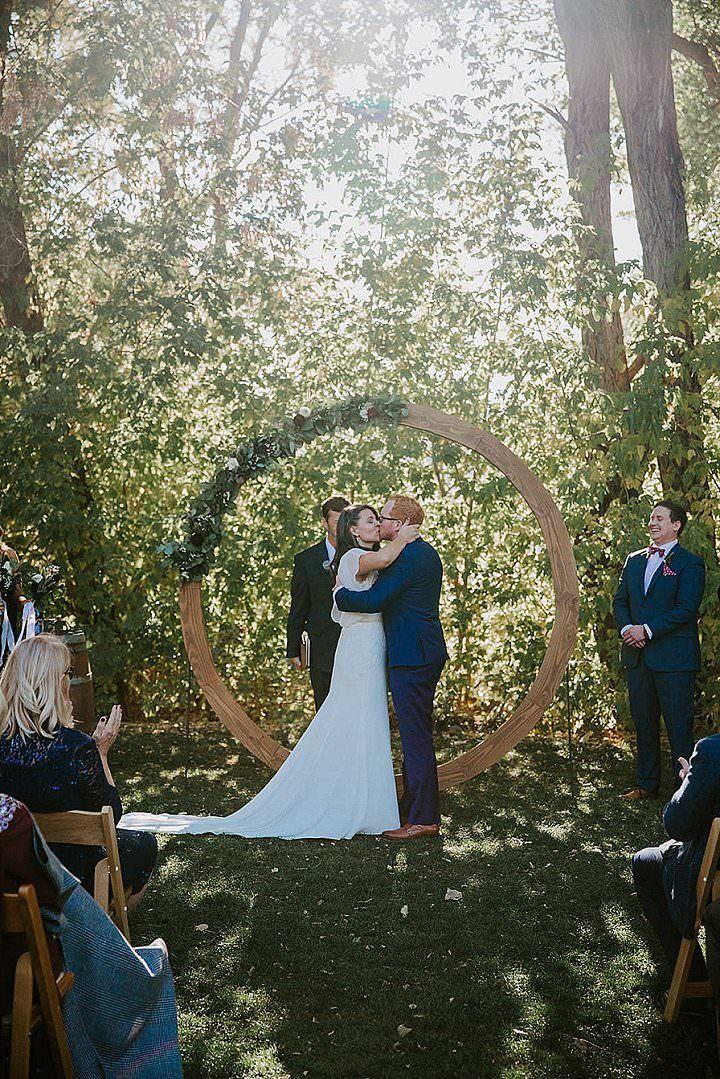 Brittany and Phil's Stylish Colorado Farm Wedding by Ashley Tiedgen Photography