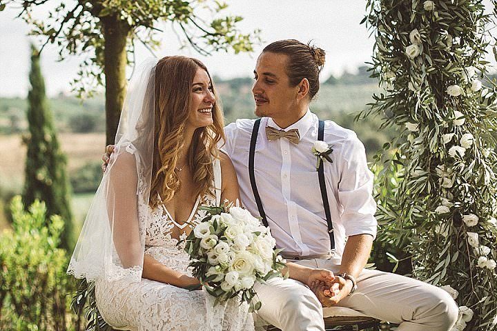 Thomas and Melissa's 'Surrounded by Nature' Beautiful Outdoor Tuscany Wedding by Dallk Photography
