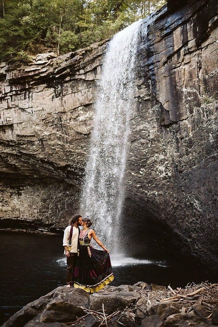 Margaret and Garrison's Barefoot DIY 'Bohemian Bazar' Waterfall Wedding by OkCrowe Photography