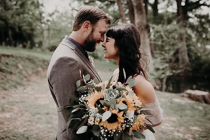 Taylor and Stefan's 'Sunflowers and Earth Tones' Texas Camp Wedding by the Water by Amber Dawn Photography