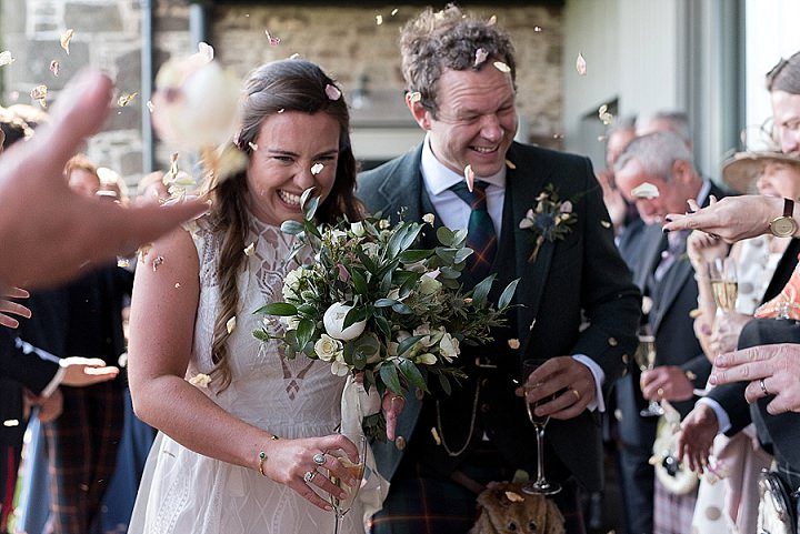 Hannah and Rory's Fun Filled Food Loving Scottish Farm Wedding by Ali Jay Photography