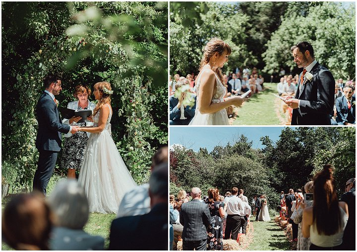 Nicki and Deej's Homemade Back Garden Hampshire Wedding with Wild Flowers and a Silent Disco by Emily and Steve Photographers
