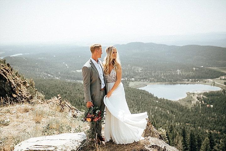 Jana and Bentley's EpicOutdoorsy Colourful Bohemian Montana Wedding by Joelle Julian Photography