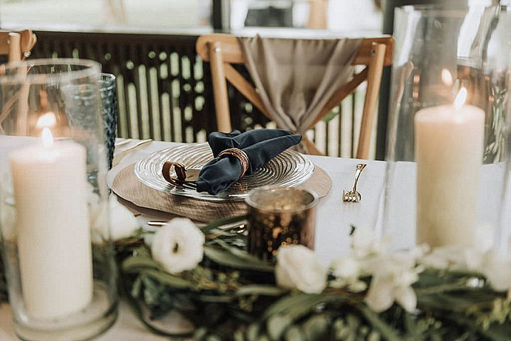 Emma and Dominic's Copper, Blue and Greenery Minimalist Beach Wedding in Thailand by Wedding Boutique Phuket