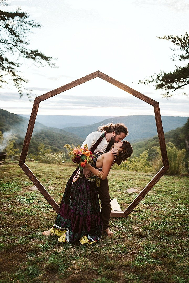 Margaret and Garrison's Barefoot DIY 'Bohemian Bazar' Waterfall Wedding by OkCrowe Photography