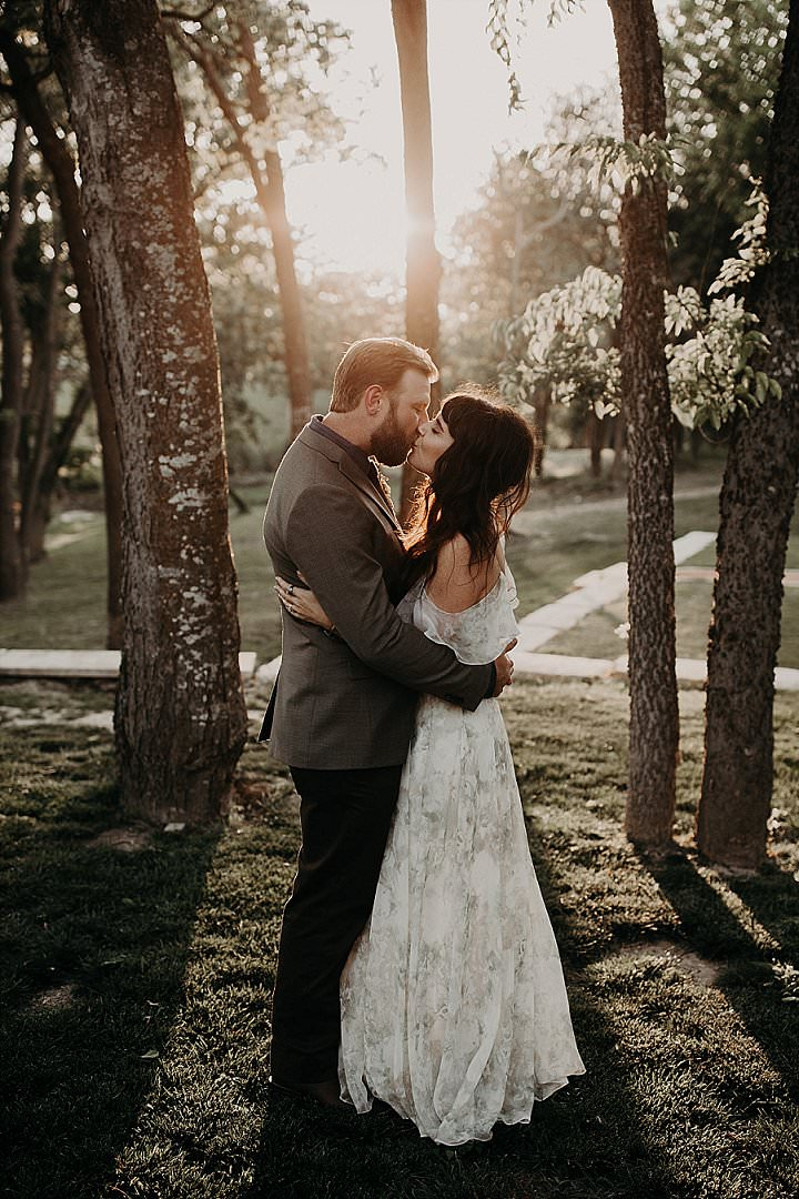 Taylor and Stefan's'Sunflowers and Earth Tones' Texas Camp Wedding by the Water by Amber Dawn Photography