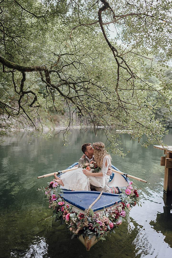 Cara and John's Cornish Tipi Woodland Elopement by Salt & Sea Photography